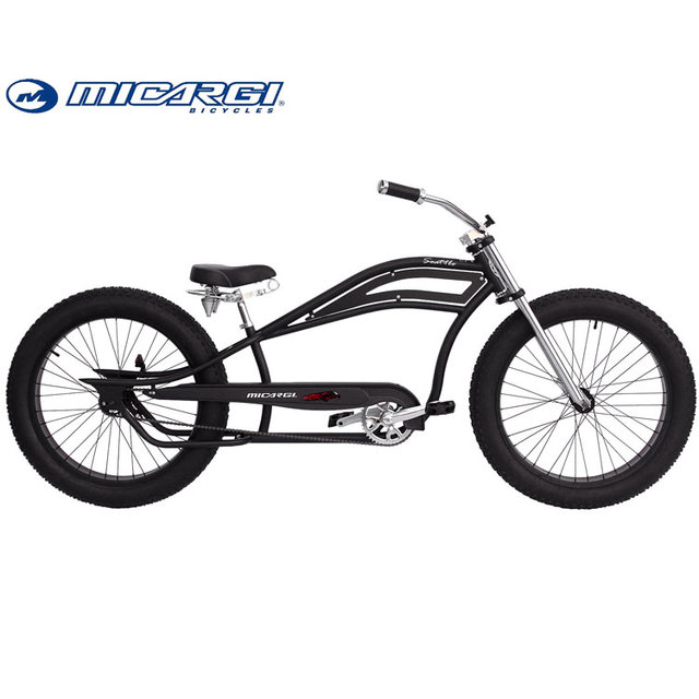 Micargi 26 inch Oversized stretch bike SEATTLE Fat Tire Chopper bicycle
