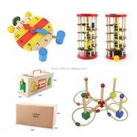 Wooden Montessori Toys Teaching Tools for Montessori Sensorial Curriculum gifts for babies toddlers