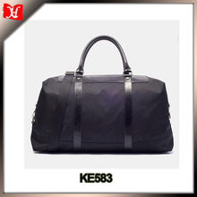 High end Nylon Weekend Travel Duffel Bag men with genuine leather trims