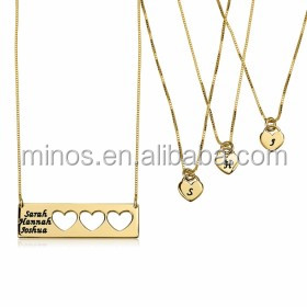 write your name on a gold necklace latest gold letter pendant family neckalce 2017
