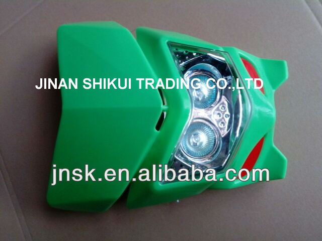 motorcycle head light assy and plastic parts