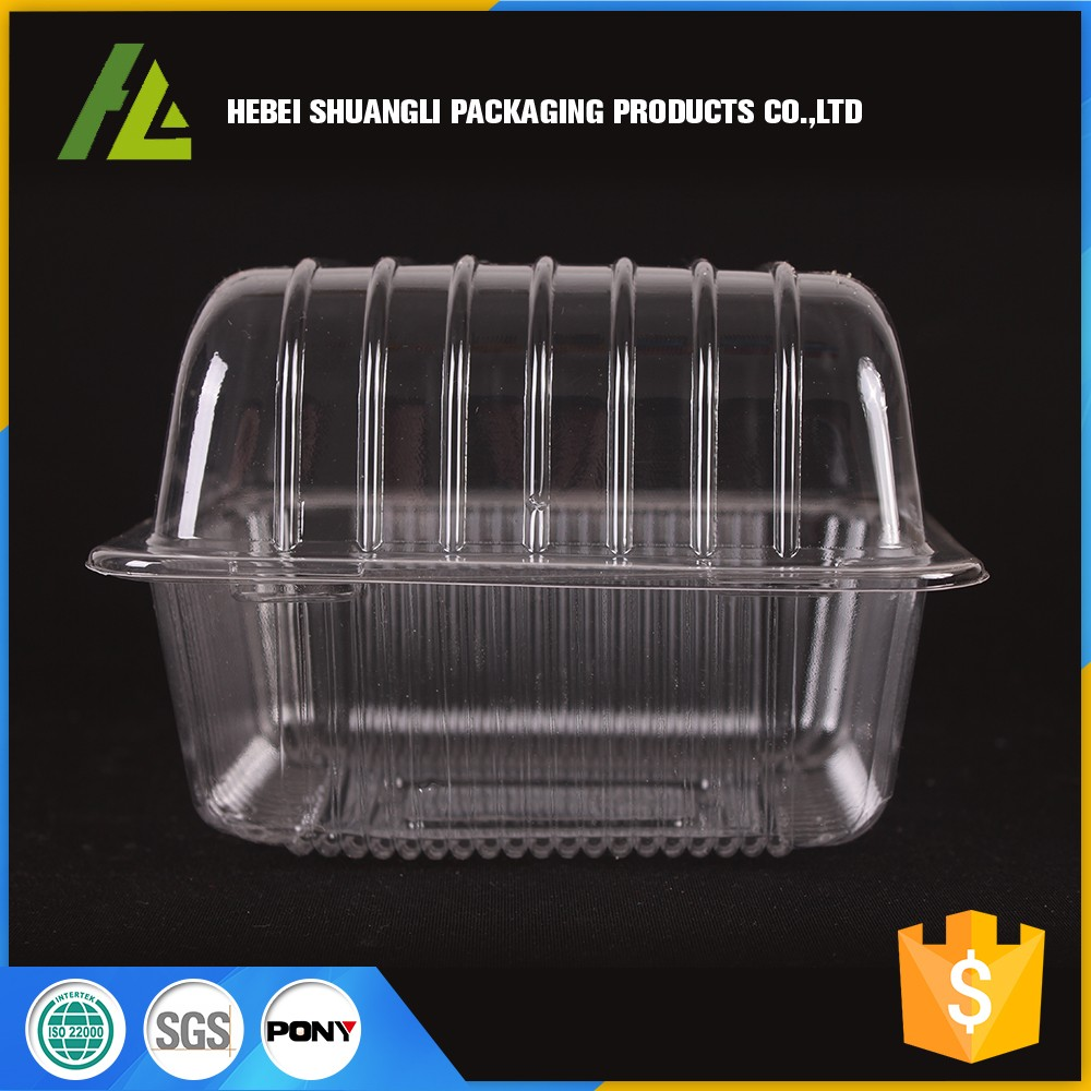 Clear transparent plastic retail clamshell packaging