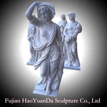 Western Style Woman Figure White Marble Sculpture