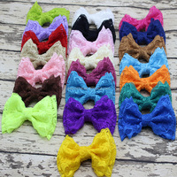Cute Double Lace Bow Hairpin Fashion Children Girls Lace Hair Accessories