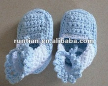Baby's 100%Soft Cotton Crocheted Shoes