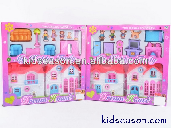 MY HAPPY FAMILY DREAM HOUSE TOYS - PLASTIC DOLL HOUSE