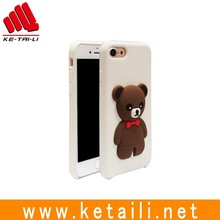 Custom cartoon design 3D silicone cell phone case for iphone 7