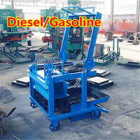 gasoline/diesel engine! DMYF-4B cement block making machine
