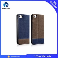 Wholesale Price Western Cowboy Leather Wallet Stand Case For iPhone 7