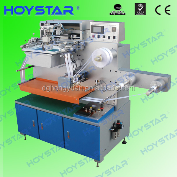 2 color Vertical Semi Auto Silk Screen Ribbon Printing Machine