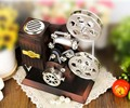 Bioscope shape music box for Christmas gift item