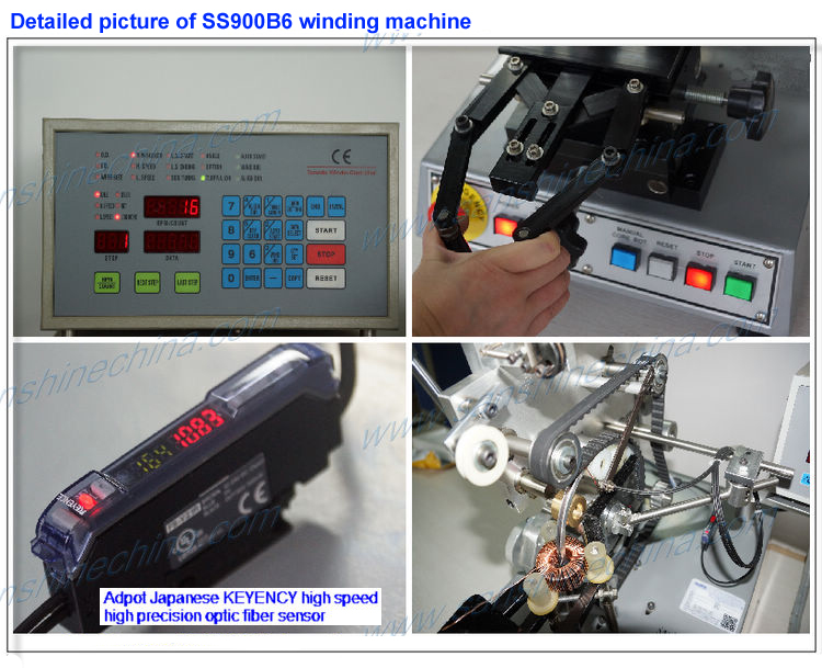 Automatic toroidal inductor coil winding machine(SS900B6 series final coil OD 10~80mm) replace GORMAN toroidal winder