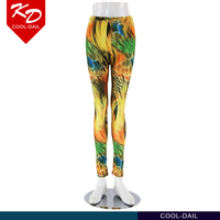2015 popular indian sex seamless printed leggings