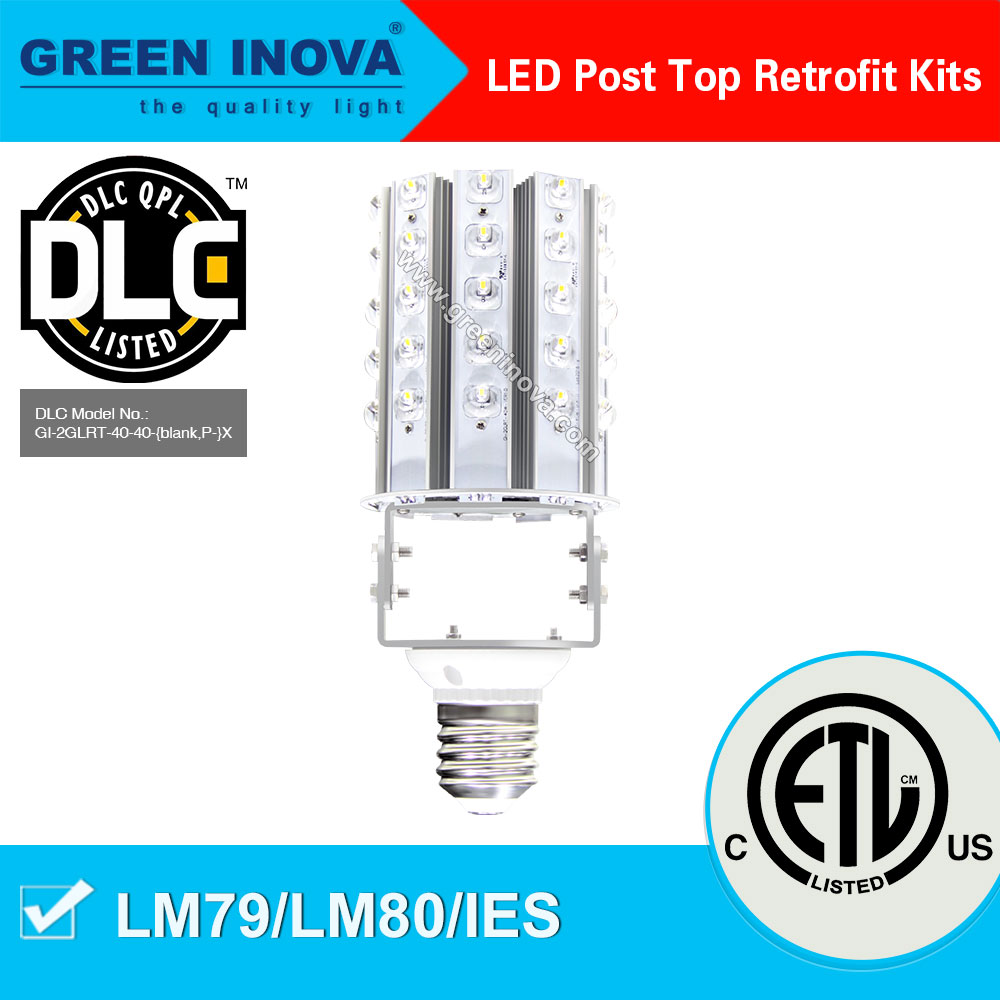 Top quality 5 years warranty ETL cETL DLC listed hot new products 2014 post top retrofit LED kit