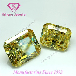 loose octagon shape colored semi-precious cubic zirconia cz stones sale