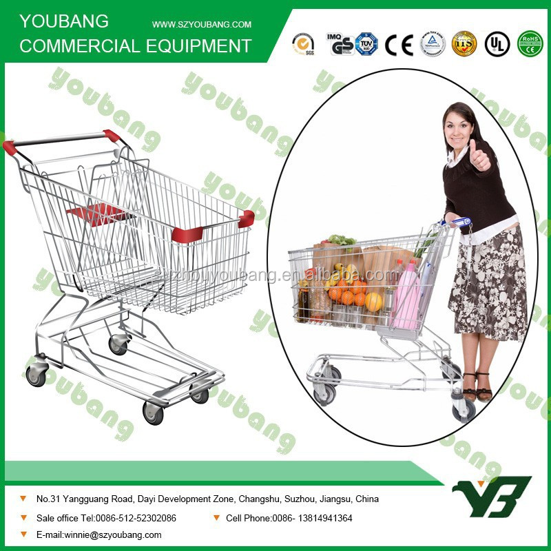 steel frame foldable shopping cart trolley