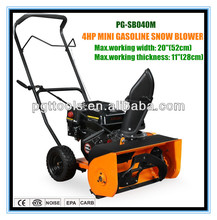 4HP Gasoline tractor front mounted snow blower