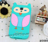 3D Cute Chicken Design Silicon Animal Cartoon Case for Samsung Galaxy S4 i9500.