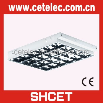 595X595 grid fluorescent office ceiling light fixture
