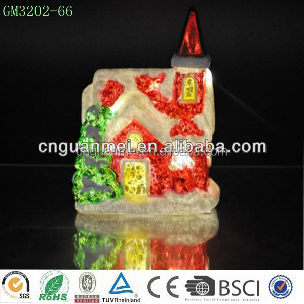 2014 Pretty Glass Xmas Decorations/ Xmas Snow House