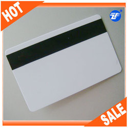 composite mag strip loco or hico bulk tk4100 blank magnetic rfid cards/ standard size smart card