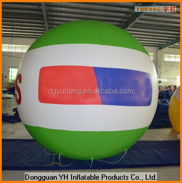 0.18mm PVC giant inflatable advertising floating helium balloon