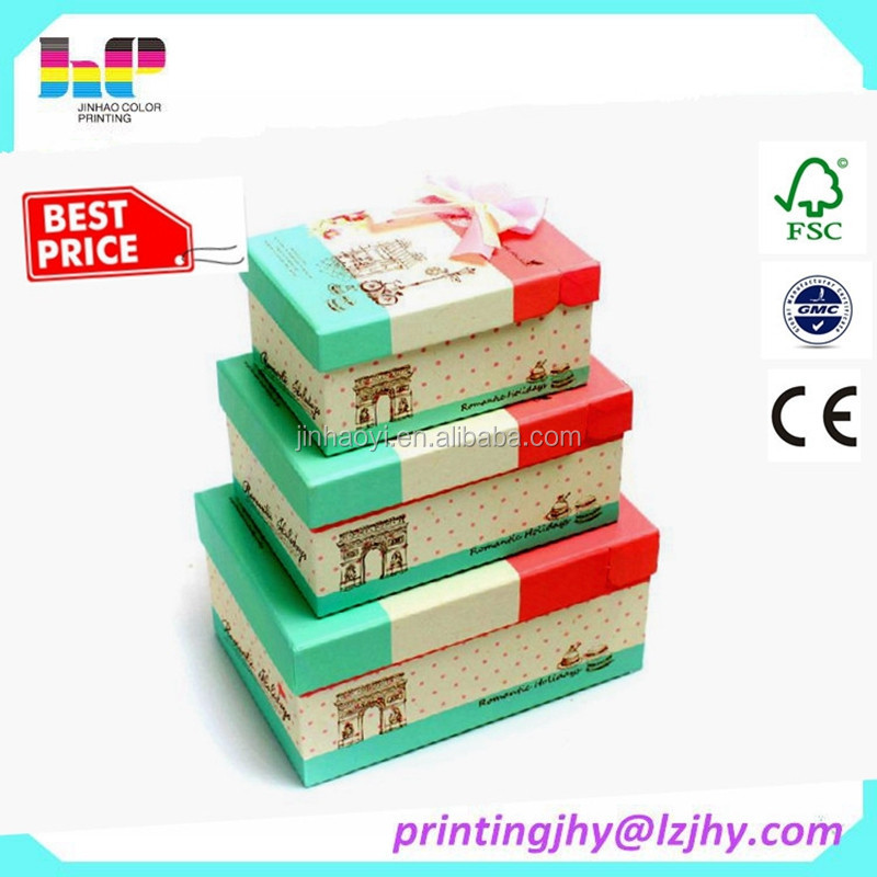 Recycled Cardboard Gift Packaging Box Printing