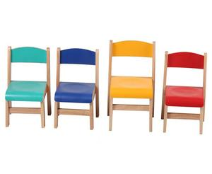 Childcare Centre Furniture Children wood Chairs , Play chair School for children