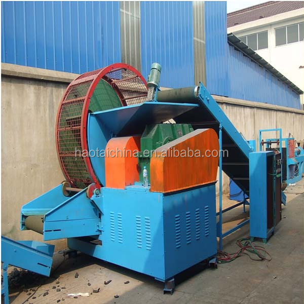 Waste tyre shredder / High efficiency shredded tyre scrap