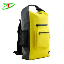 Custom new design outdoor floating sports zip barrel bag super dry backpack waterproof