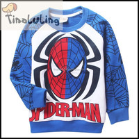 2015 fashion Sweater high quality children clothing spider man fleece jackets