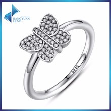 hot sale cz ring 925 silver jewelry
