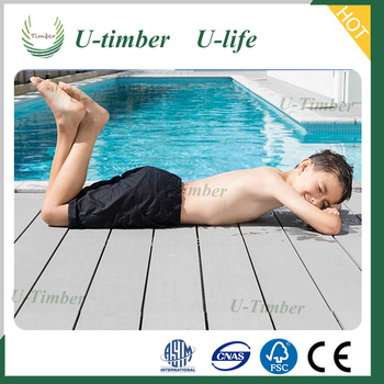 Wood composite decking WPC is anti-slip and water proof pest resistance