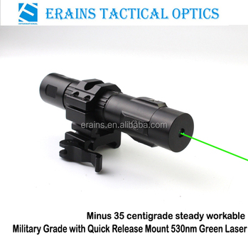 Military Grade Heavy Duty Qd Mount Tactical Minus 35 Degre Steady Working 520nm Green Laser Sight (ES-LS-HY06G-ML)