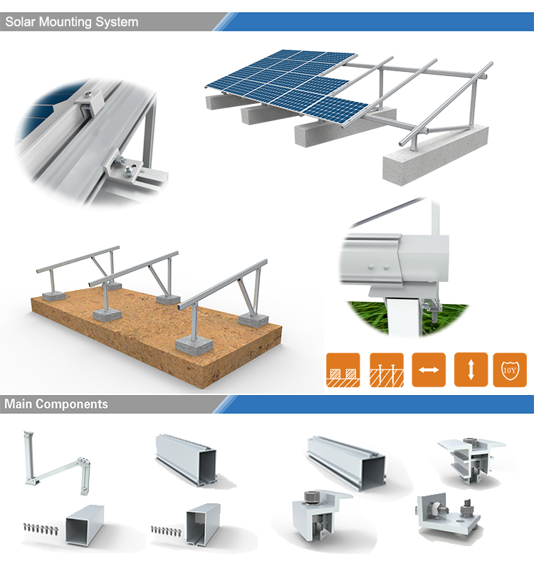 Top Quality Solar Ballast Flat Roof Mount