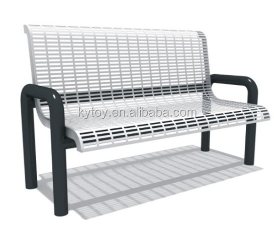 Wholesale white metal garden bench for sale