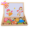 2016 New design lovely wooden magnet puzzle W12B061-M14