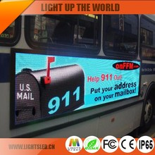 p5 Mobile Bus Advertising LED Board Popular design indoor scrolling message led sign text/message