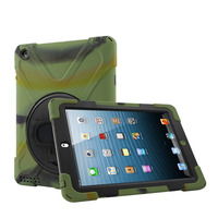 Heavy Duty Full Cover Protector Armor Rugged Case For iPad 4 With Rotation Kickstand