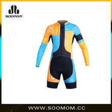 Men's Breathable Spring&Autumn Long Sleeve Skinsuit Cycling Kit With Gel Pad Outdoor Sports Wear