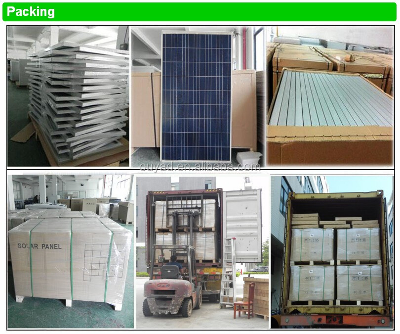 Good price of 150w black poly solar panel with carton box package for sell