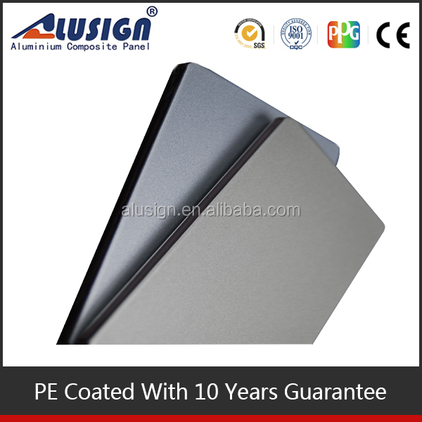 Alusign original factory ISO standard plastic glass coating aluminum composite panel for cars