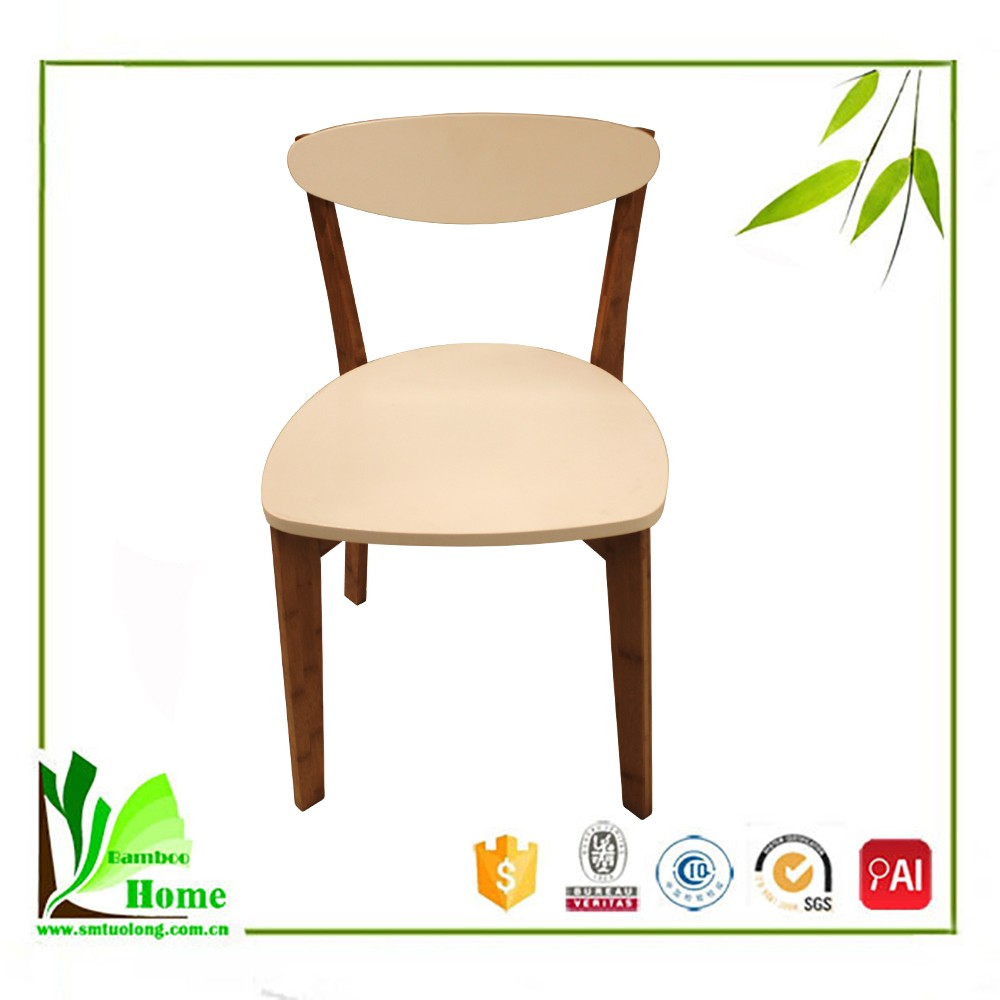 Modern Furniture Design Bamboo White Dining Chair