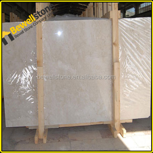 Cream beige honed marble slab cif from China