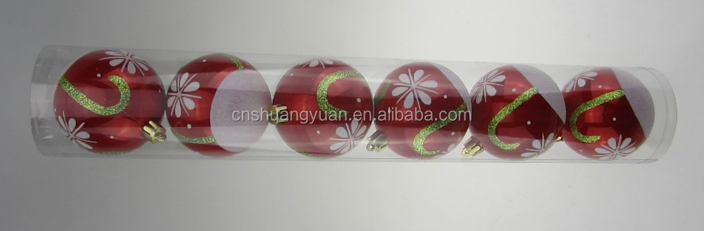PVC tube packed christmas decoration ball,christmas ornaments