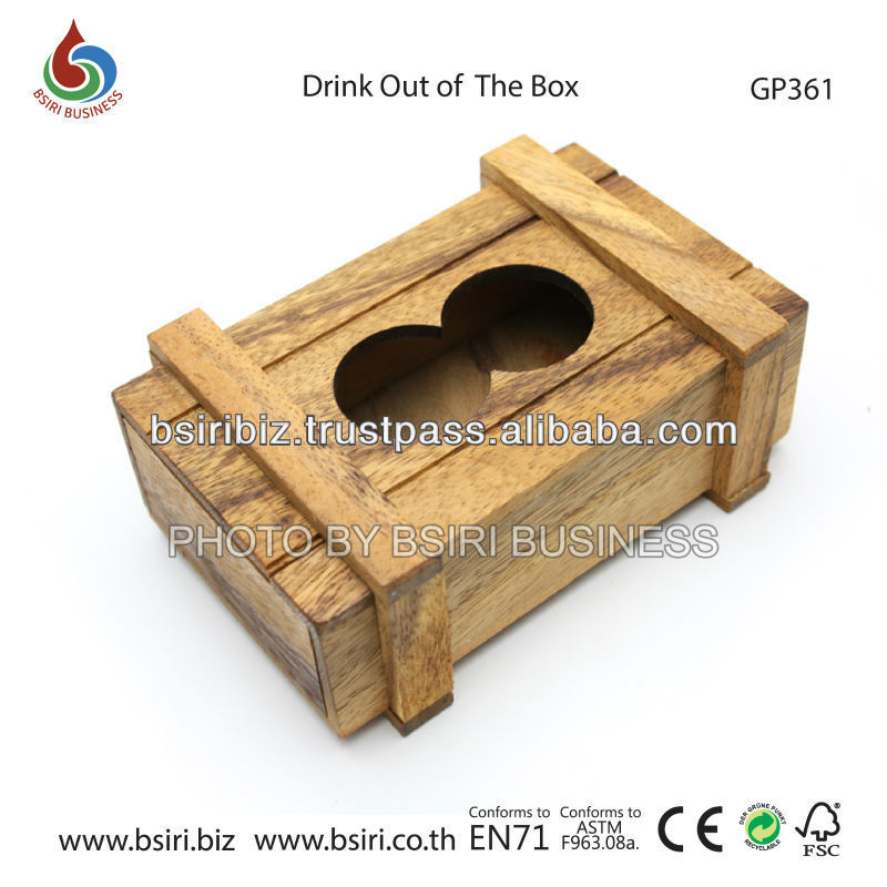 wooden puzzles games Drink out of the Box