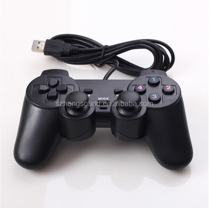 Solid Black Game Accessories Wired USB Connected Controller Sonye PS4 Console