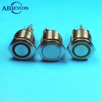 16mm lighted metal pushbutton switch push on push off tact switch