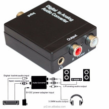 Digital Toslink SPDIF Optical Coaxial to Analog Audio Converter RCA R/L 3.5mm
