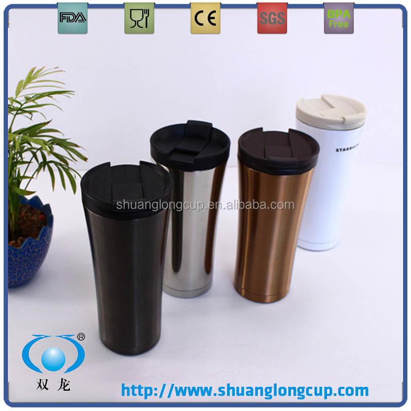 500ml 17oz double wall stainless steel 18/8 starbucks thermos coffee tumbler